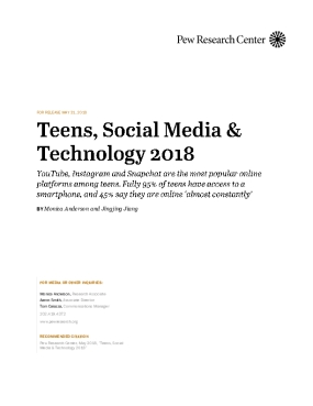 Teens, Social Media & Technology 2018