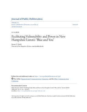 """Facilitating Vulnerability and Power in New Hampshire Listen's """"Blue and You """""""