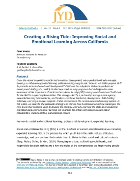 Creating a Rising Tide: Improving Social and Emotional Learning Across California