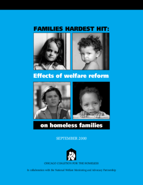 Families Hardest Hit: The Impacts of Welfare Reform on Homeless Families